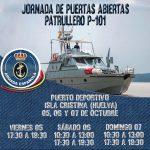 El patrullero de la Armada 'P-101' recala este fin de semana en Isla Cristina con jornada de puertas abiertas