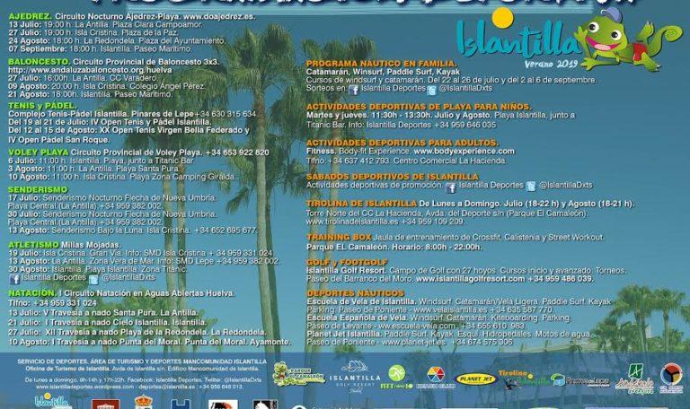 Presentación del Programa Náutico en Familia y de la Programación Deportiva de Verano de Islantilla
