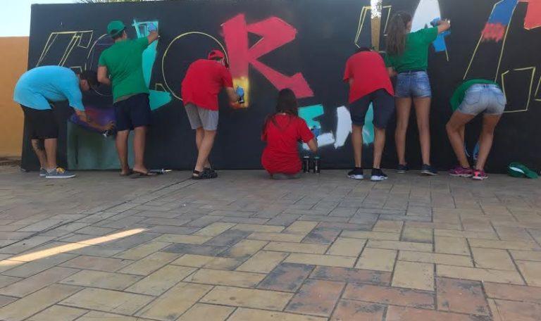 Clausurado en Isla Cristina un Taller de Grafitis