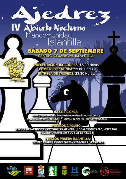 IV Abierto Nocturno de Ajedrez Mancomunidad de Islantilla