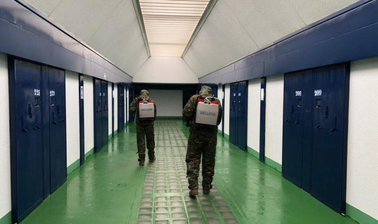 El Ejército de Tierra contribuye a la lucha contra el COVID-19 en Huelva