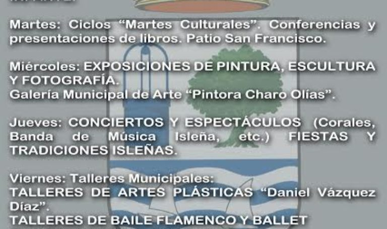 La Delegación Municipal de Cultura ofrecerá actividades e iniciativas a través de las Redes Sociales