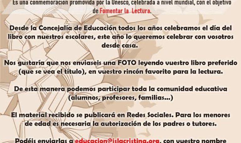El Ayuntamiento celebrará el Día del Libro Escolar con un concurso de fotografías en las redes sociales