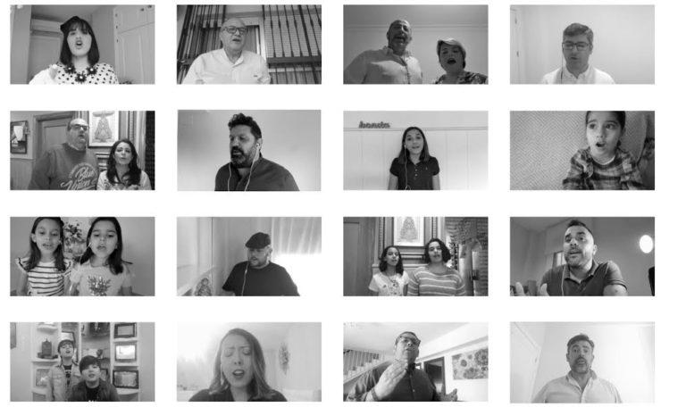 Una preciosa iniciativa que surge de en el confinamiento por parte de artistas de Huelva, versionando el Himno de la Coronación de la Virgen del Rocío