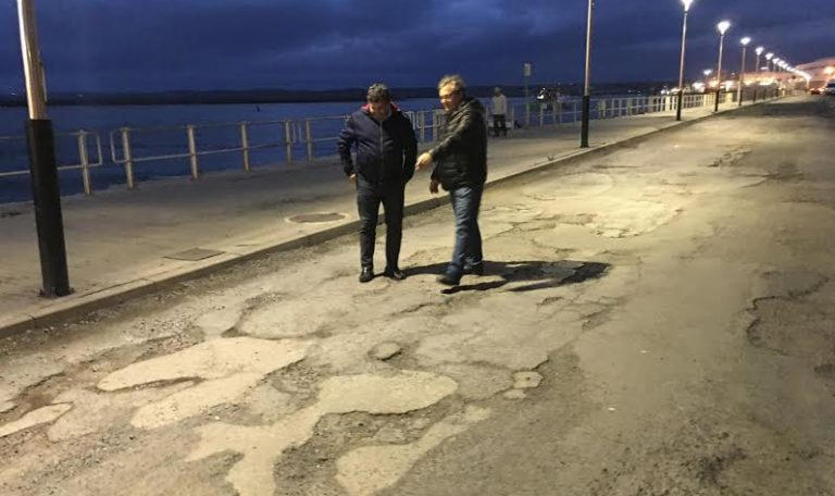 La próxima semana comenzará la obra de asfalto del tramo de vial del Muelle Martínez Catena.