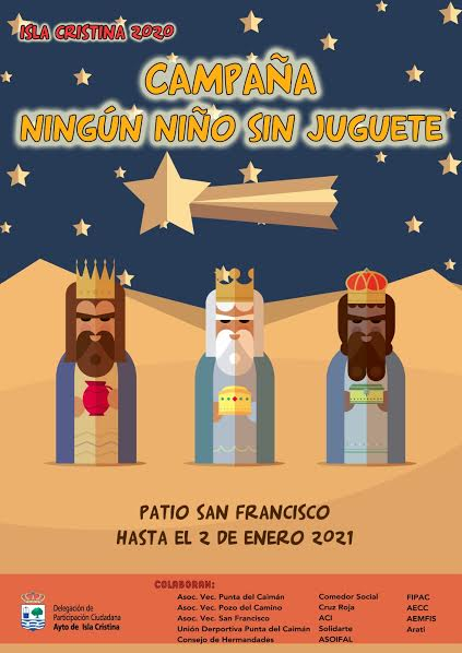 El Ayuntamiento de Isla Cristina pone en marcha la Campaña solidaria 'Ningún Niño sin juguete'