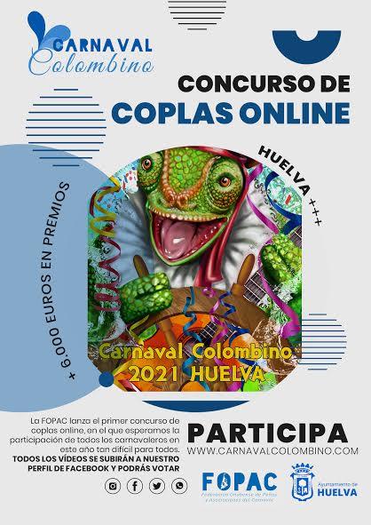 Concurso online de Coplas que pondrá en marcha el Carnaval Colombino en 2021