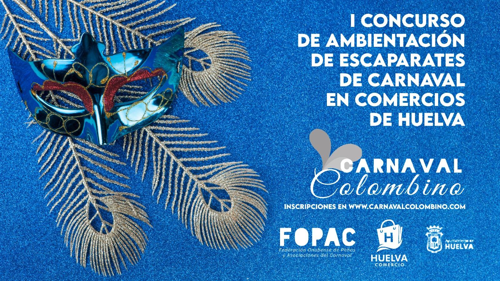 El Carnaval Colombino quiere tener presencia en la calle este año y lanza un concurso de escaparates en comercios