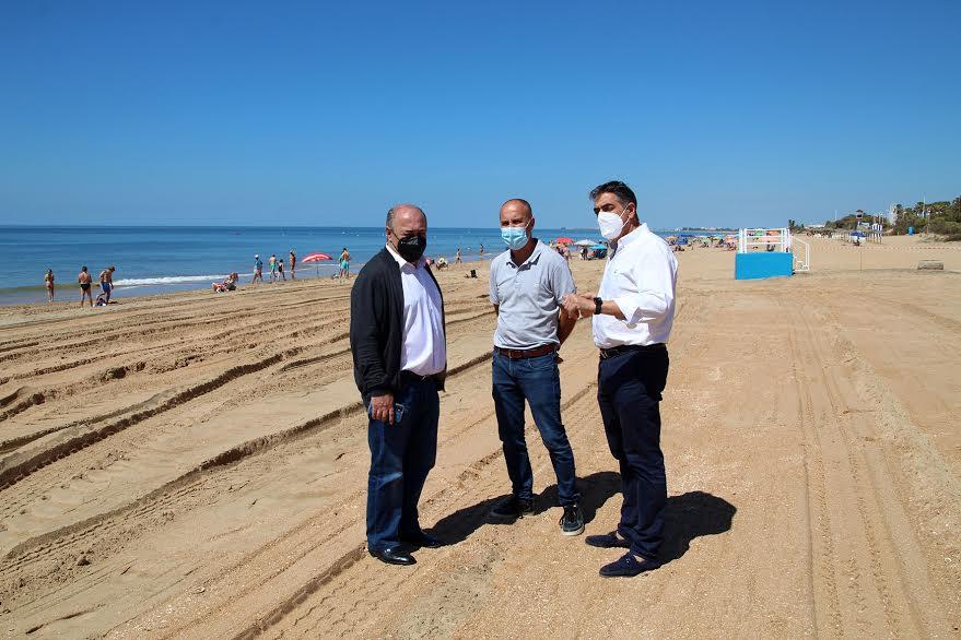 Finalización de las actuaciones de perfilado de la playa de Islantilla