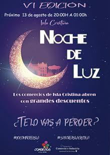 Comunicado de la Delegación de Comercio del Ayuntamiento de Isla Cristina sobre la Vi Edición de la 'Noche de Luz'