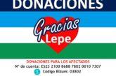 Las donaciones ciudadanas han permitido cubrir las primeras necesidades de los afectados por las inundaciones en Lepe